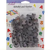 Набор катеров  буквы 26 шт английский алфавит+ цифры+ восклицательный знак 37 шт.
