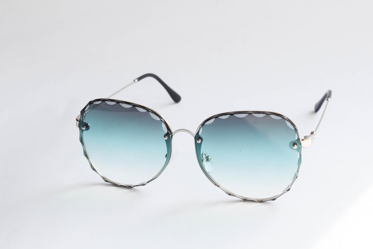 ecad3ffdf14e Очки квадратные солнцезащитные с линзами бирюзового цвета в металлической  оправе
