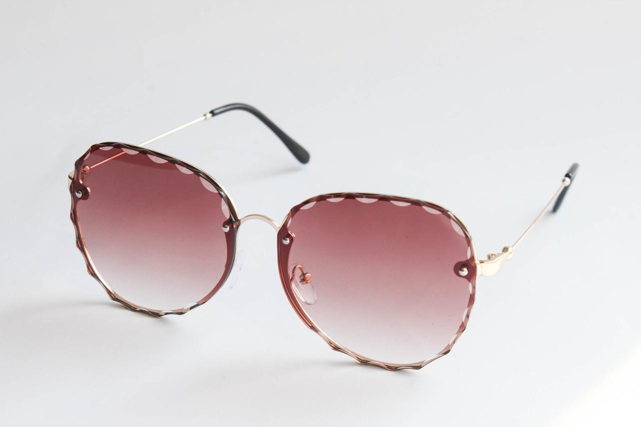 0162bda54549 Очки квадратные солнцезащитные с линзами коричневого цвета в металлической  оправе - ARUT Кожаная обувь и галантерея