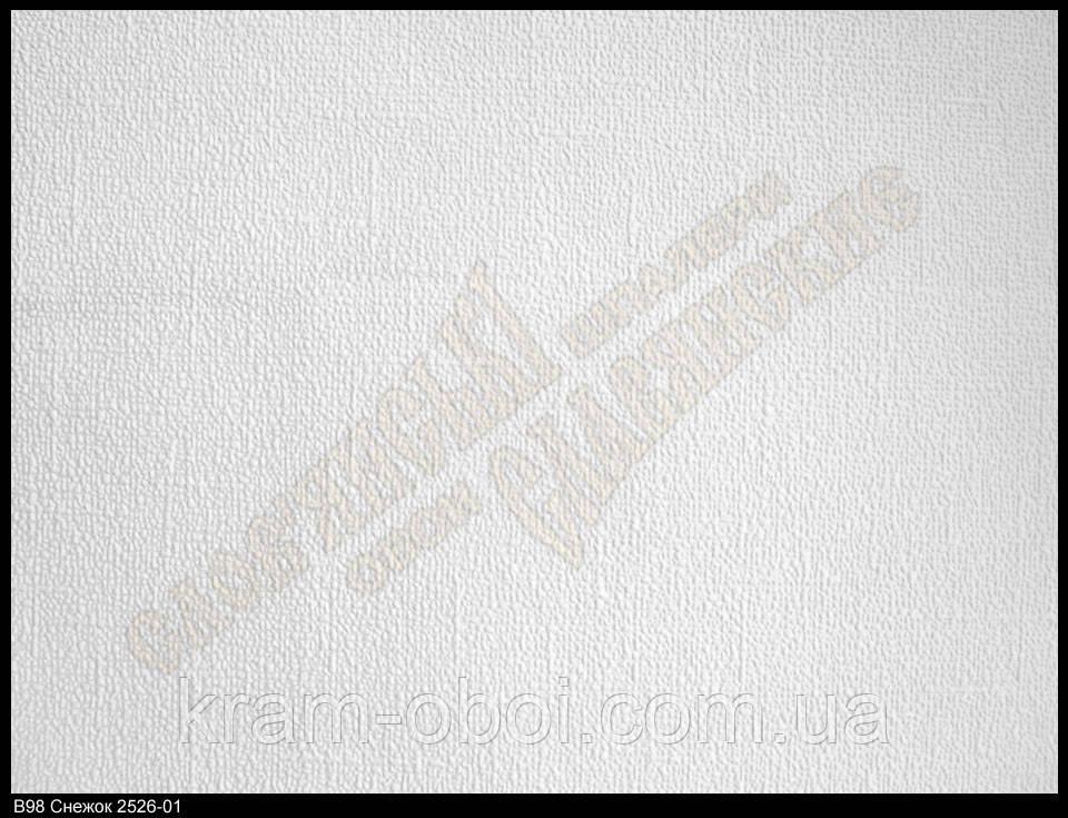 Обои Славянские Обои КФТБ виниловые на флизелиновой основе 25м*1,06 9В98 Снежок 2526-01