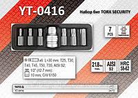 """Набор специальных бит TORX SECURITY + переходник 1/2"""", Т25-Т55, YATO YT-0416"""