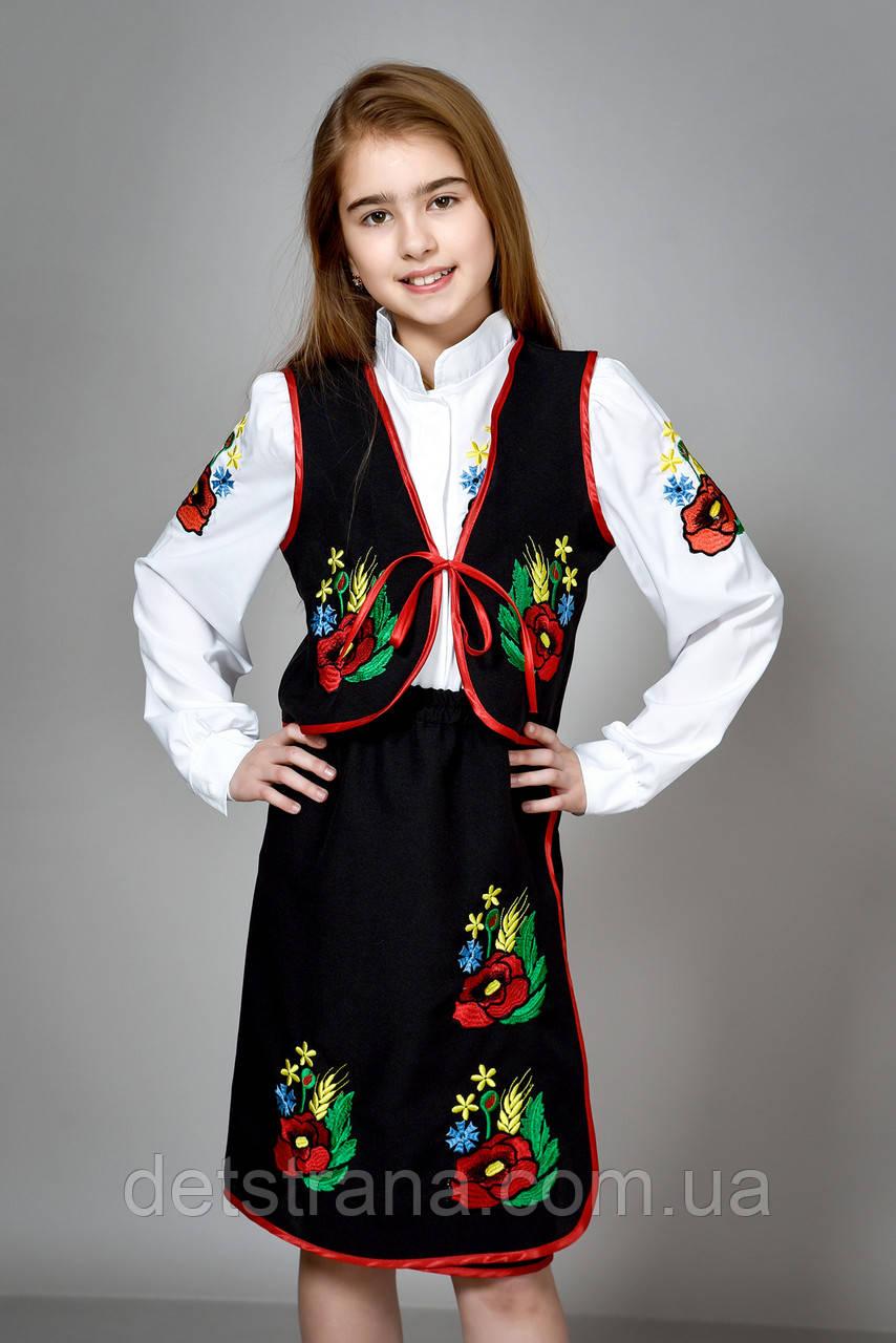 Дитячий український костюм для дівчинки