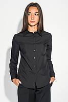 Рубашка женская классического кроя 496F001 (Черный)