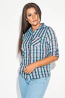 Рубашка женская с рукавом три четверти 52P002-6 (Голубой)