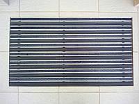 Алюминиевая грязезащитная решетка резина+щетка 90х60см.