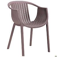 Пластиковое кресло АМФ Crocus PL Какао, для кафе
