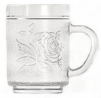 Чашка стеклянная Uniglass Roses 260 мл, фото 1