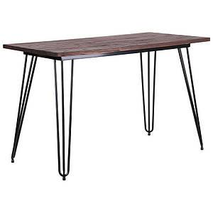 Стол обеденный AMF Smith прямоугольный 120х60 см металлические ножки черные