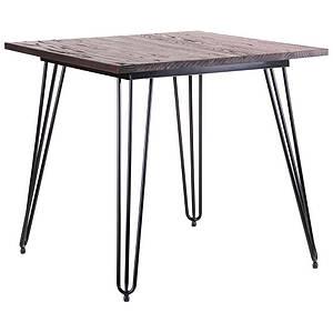 Стіл обідній AMF Smith квадратний 80х80 см чорні металеві ніжки