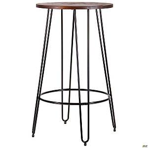 Високий столик AMF Nirvana круглий 60 см чорний для бару-кафе