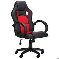 Компьютерное кресло AMF Chase кожзаменитель черно-красный для геймеров, фото 1