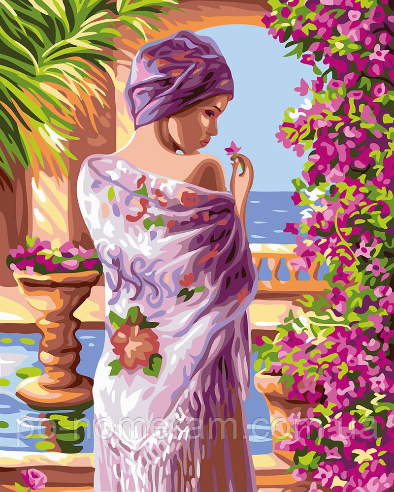 Картина раскраска Терасса в цветах (BRM24107) 40 х 50 см ...