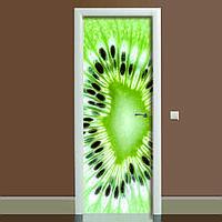 Наклейка на двері Ківі (повнокольоровий фотодрук, плівка для дверей, декор дверей)