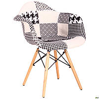 Кресло AMF Salex FB Wood Patchwork черно-белый