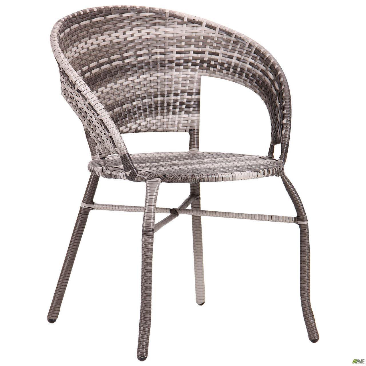 Садове крісло AMF Catalina ротанг сірий для кафе на терасу