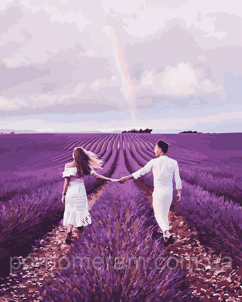 Картина за номерами Brushme Закохані на лавандовому поле (PGX23786) 40 х 50 см