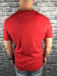 Молодіжна Чоловіча Футболка Gucci червона Якість 100% Бавовна Хайповая Трендова Гуччі копія, фото 2