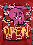 Молодіжна Чоловіча Футболка Gucci червона Якість 100% Бавовна Хайповая Трендова Гуччі копія, фото 3