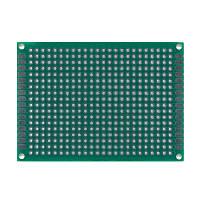 Макетная плата 50x70 мм двухсторонняя зеленый текстолит