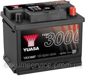 Аккумулятор автомобильный Yuasa SMF 62AH R+ 550А YBX3027