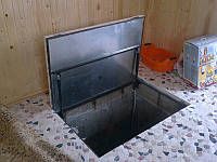 Напольный люк под плитку 900*900 мм Universal -Утепленный / люк в погреб/ люк в подвал