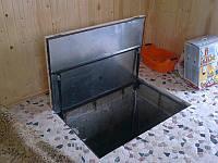 Напольный люк под плитку 700*1300 мм  Universal -Утепленный / люк в погреб/ люк в подвал