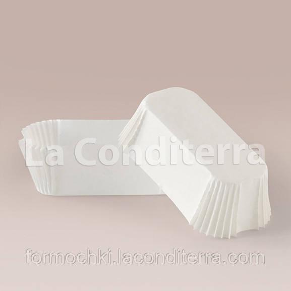 Формы для эклеров и пирожных белые (80x35 мм), мин. партия от 2000 шт.