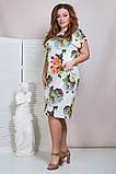 Женское летнее платье,короткий рукав,ткань супер софт,размеры:50,52,54,56., фото 2