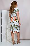 Женское летнее платье,короткий рукав,ткань супер софт,размеры:50,52,54,56., фото 3