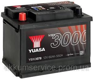 Аккумулятор автомобильный Yuasa SMF 62AH L+ 550А YBX3078