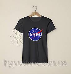 Мужская черная футболка, чоловіча футболка Nasa, Реплика