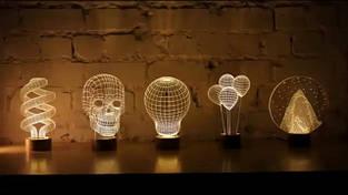 3D светильники-ночники