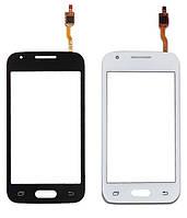 Сенсорный экран тачскрин для Samsung G313H Galaxy Ace 4 Lite белый, Classic White, без фронтальной камеры, оригинал PRC