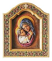 Икона Владимирская Божия Матерь (Богородица) - резная писаная объемная икона
