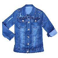 Джинсовая куртка удлиненная 3-7, 10-12 лет для девочки, фото 1