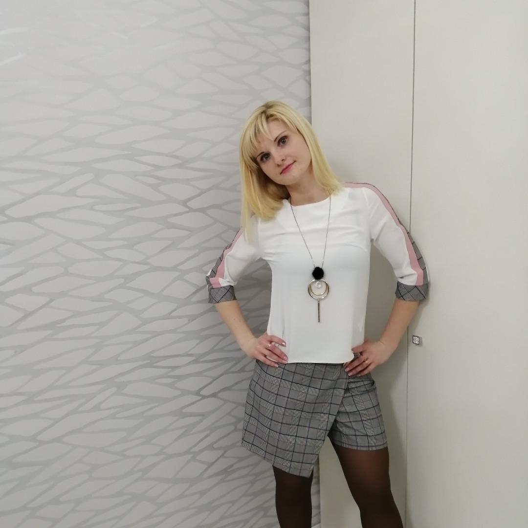 Костюм блуза и юбка-шорты