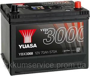 Аккумулятор автомобильный Yuasa SMF 70AH L+ 570А YBX3069