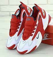 Мужские кроссовки Zoom 2k Red white. Живое фото. Топ реплика ААА+