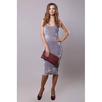 Платье-майка женское облегающее серое