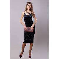 Платье-майка женское облегающее черное