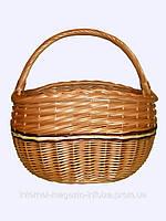 """Корзина плетеная """"Горбатая цветная"""" для покупок, хранения вещей, фруктов"""