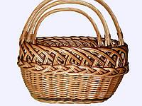 """Комплект плетеных корзин """"рыбак 3-ка"""" для хранения вещей, фруктов,овощей"""
