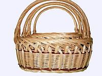 Набор плетеных корзин для ягод,фруктов, яблок, овощей