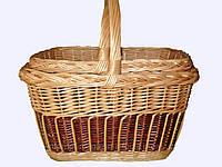 """Набор плетеных корзин """"Квадратные, цветные"""" из 2 штук"""