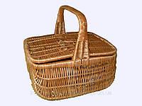 """Корзина плетеная для пикника """"Необычная"""""""