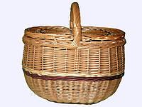 """Корзина плетеная для пикника """"Новый дизайн"""""""