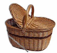 """Корзина плетеная для пикника """"Улучшеная"""""""