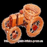 """Корзина плетеная для цветов """"трактор"""""""