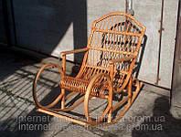 """Кресло качалка из лозы плетеная мебель """"Роскошь"""""""