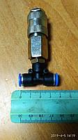 Фитинг-переходник пластиковый пневматический Т-образный под шланг Ø 6 мм